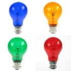 Translucent Coloured Light Bulbs