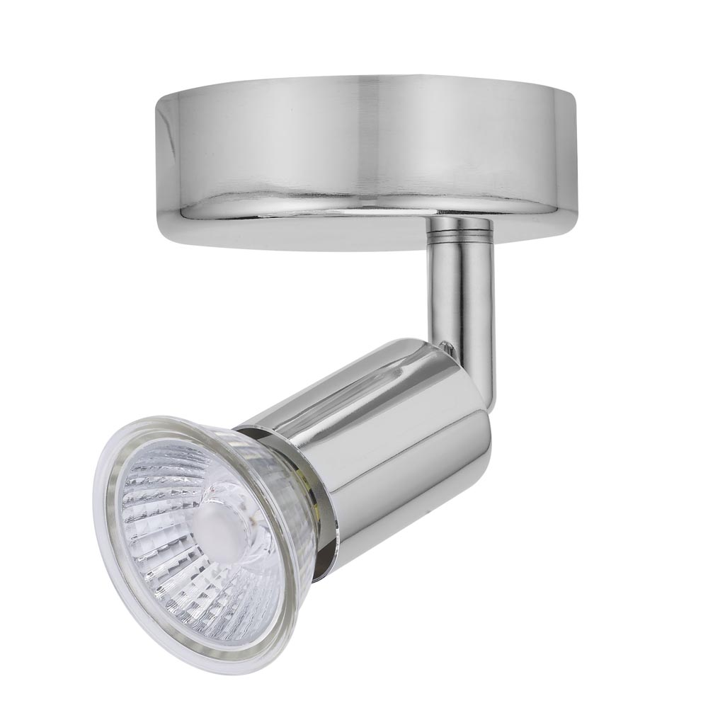 Luna GU10 Ceiling Spotlight - Single IP20 Rated Chrome