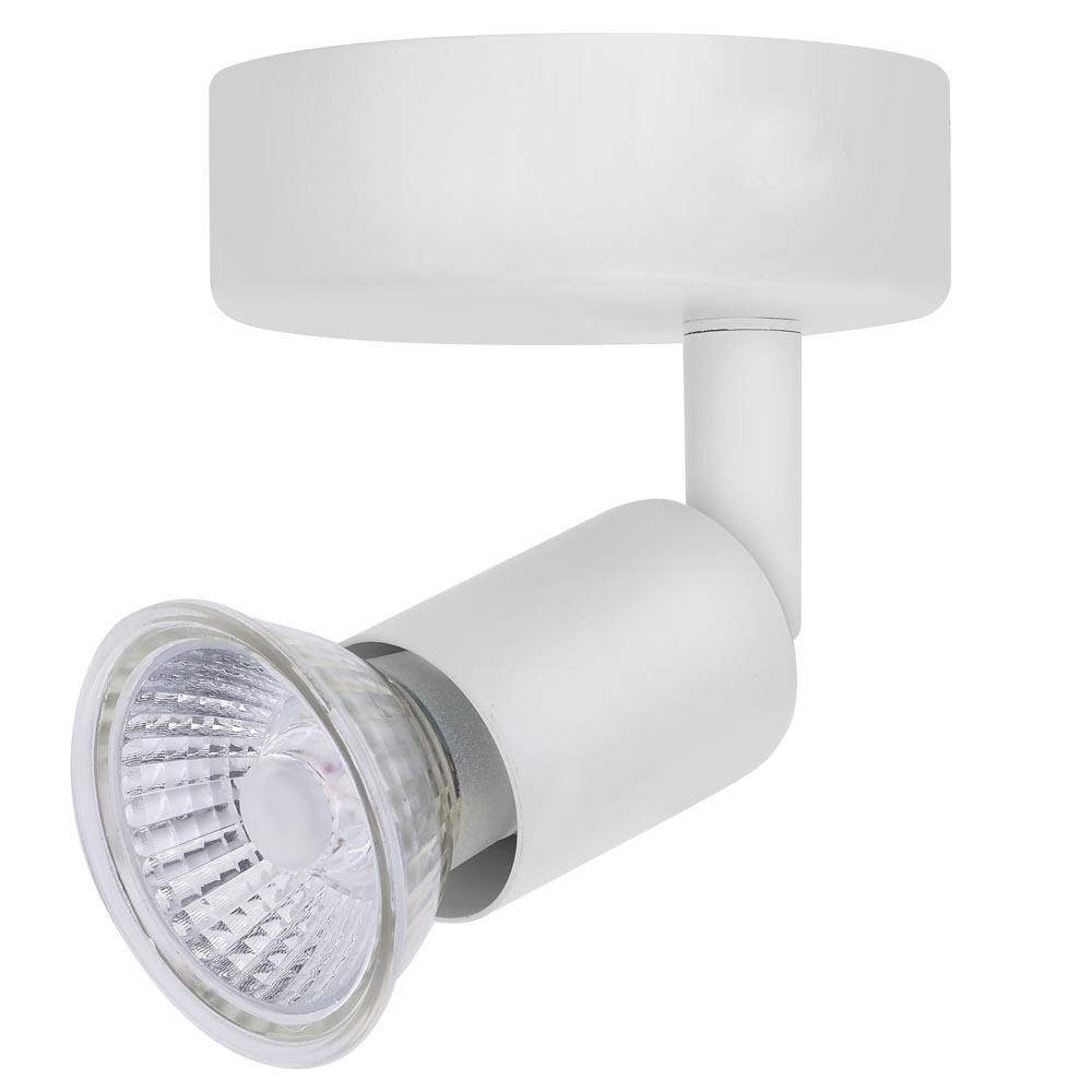 Luna GU10 Ceiling Spotlight - Single IP20 Rated White