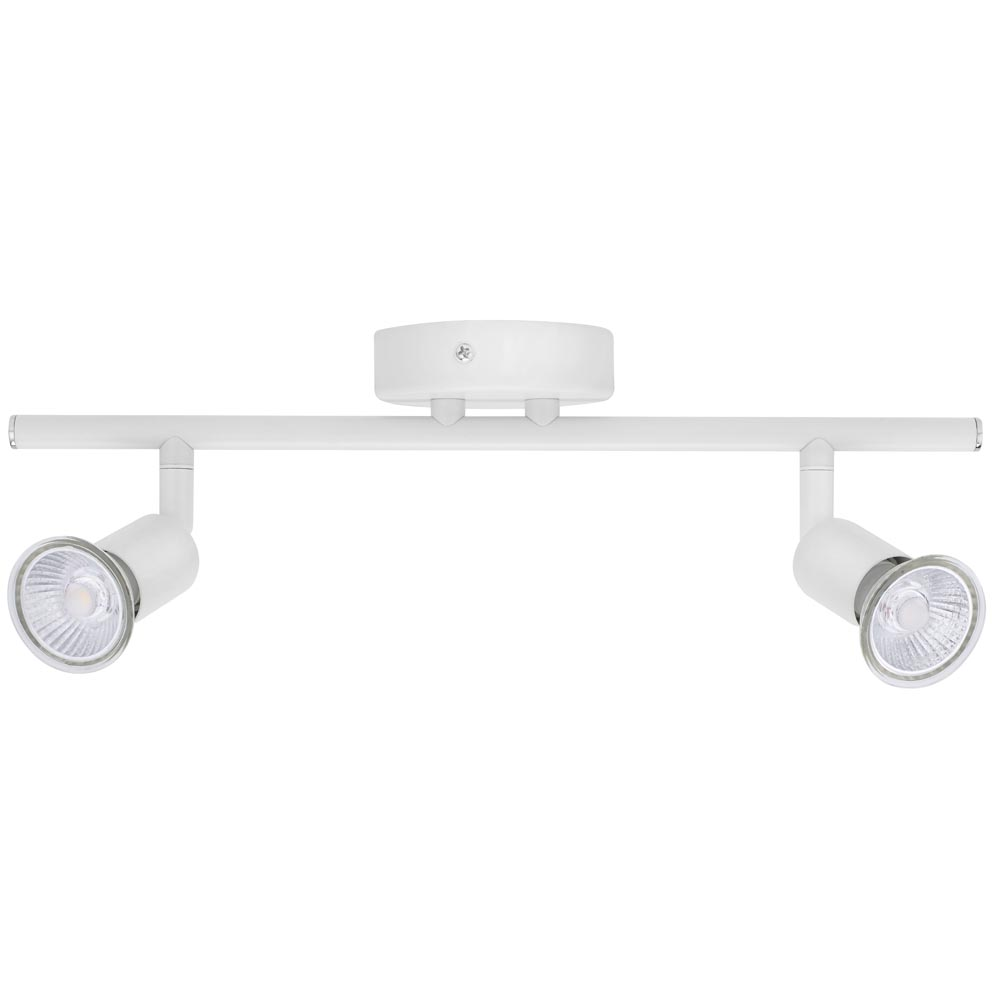 Luna GU10 Ceiling Spotlight - Twin IP20 Rated White