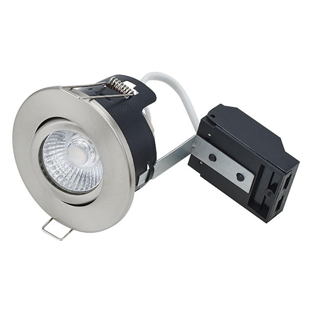 Centre Tilt Fire Rated MV/LV Downlight Satin Nickel