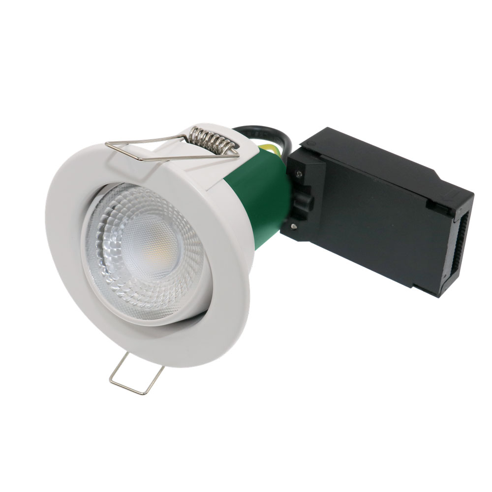 LED Tilting Fire Rated Downlight 5W 3000K IP65 White