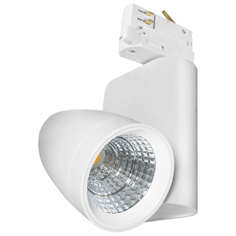 12w 4000k White Ares Led Track Light With Adapter For Three Circuit System