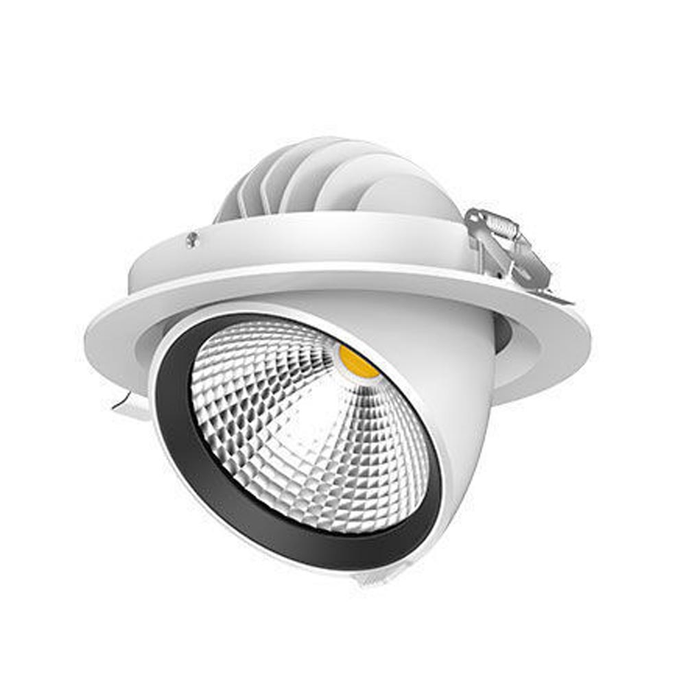 LED Scoop Adjustable Downlight 33W 830 3000K 20 Degrees IP20
