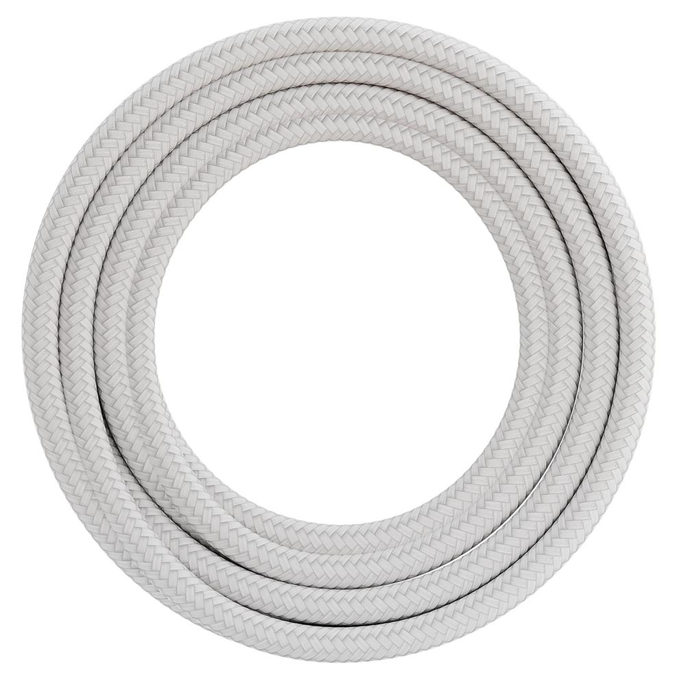 Calex Fabric Cable 2 x 0,75mm2 1.5m White, max. 250V/60W