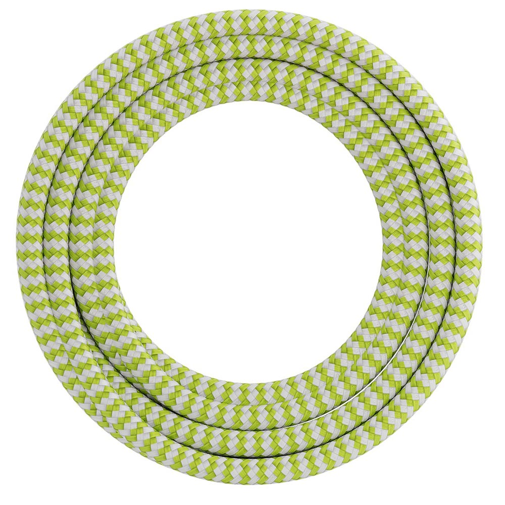 Calex Fabric Cable 2 x 0,75mm2 1.5m Lime/White, max. 250V/60W
