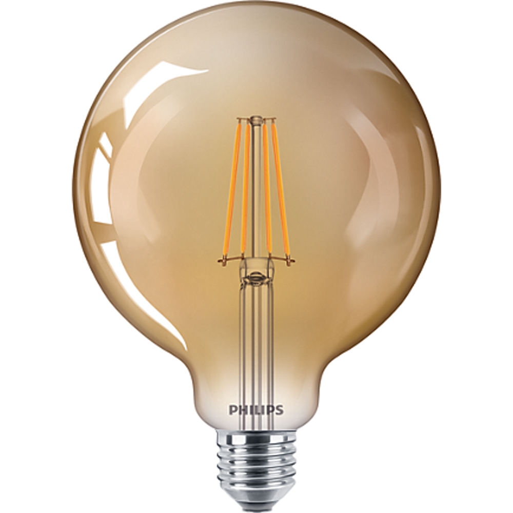 Philips Classic LED Globe D 8W G120 E27 822 Gold Dimmable