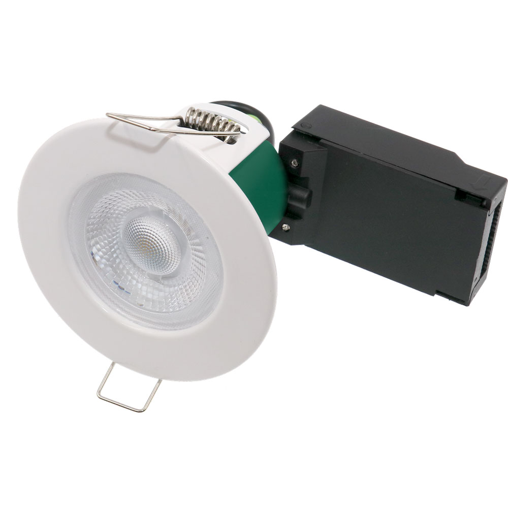 LED Fixed Fire Rated Downlight 5W 3000K IP65 60Deg White