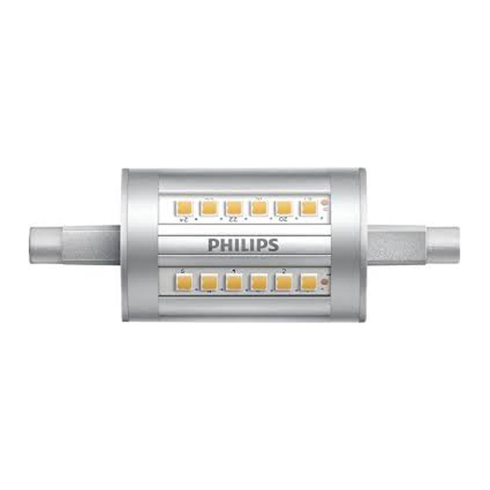 Philips led r7s 7 5w warm white 78mm for Lampadina r7s led 78mm