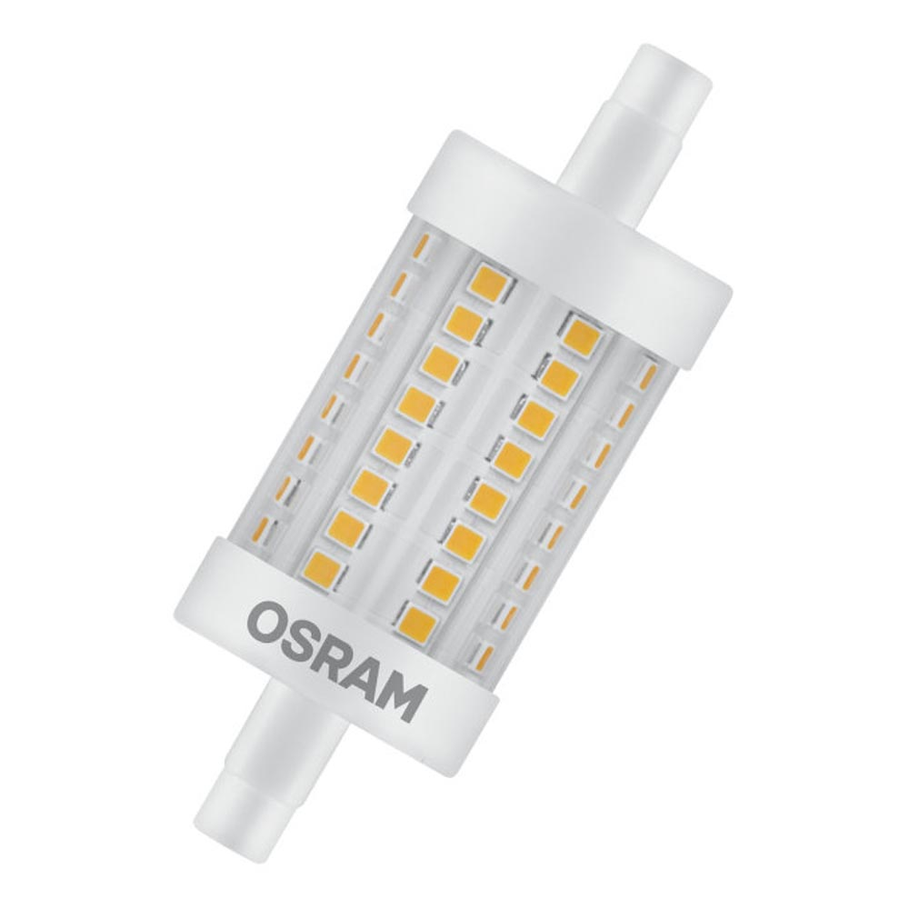 Osram led r7s 8w very warm white 78mm dimmable for Lampadine led r7s