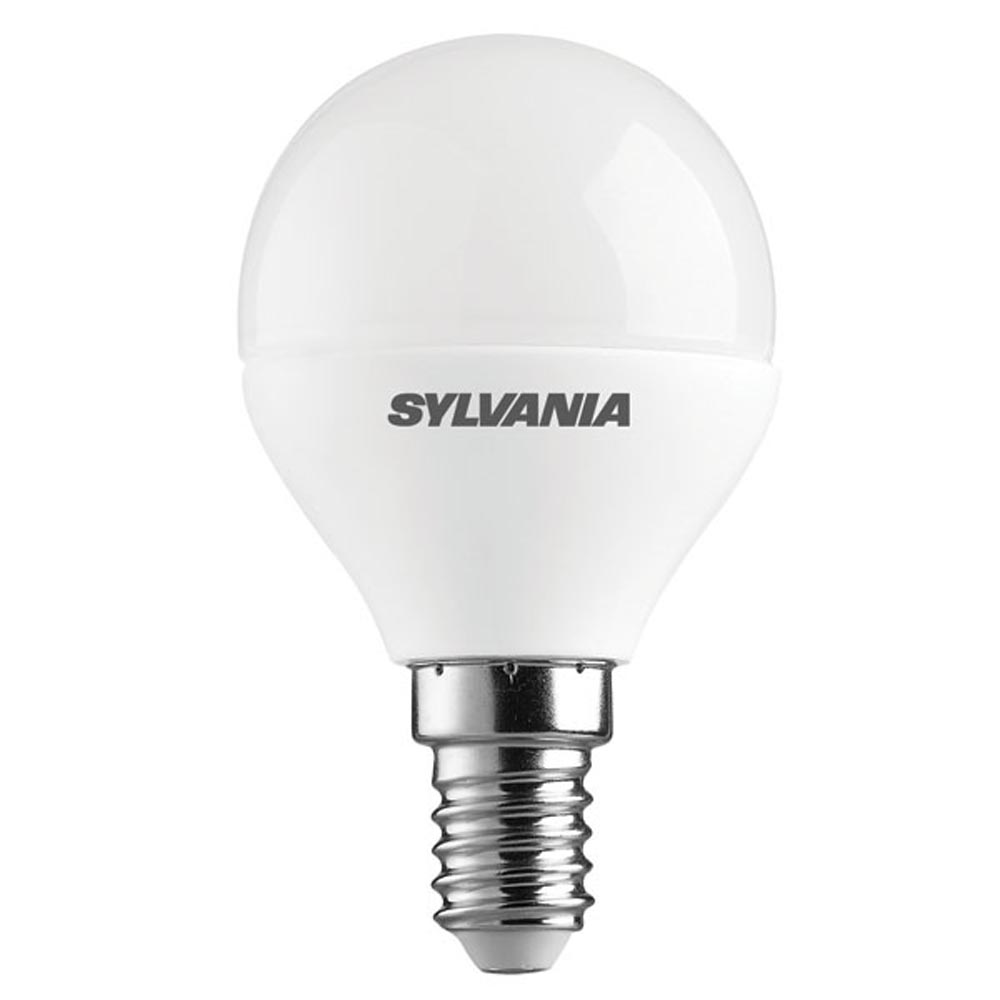 Sylvania LED 45mm Round 5.6W SES Opal Daylight Dimmable