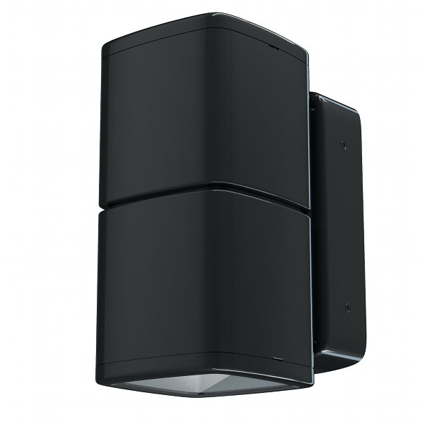 Lumiance InVerto Direct/Indirect 2 x 16W Cool White 40 Degrees IP65 in Gloss Black 1-10V Dimmable