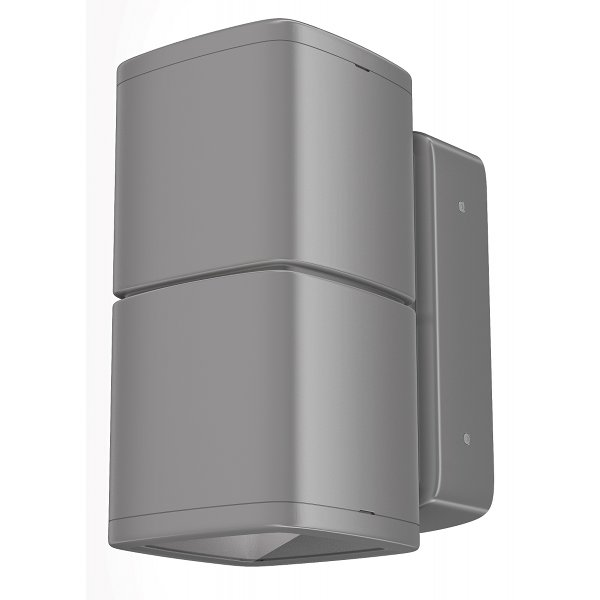 Lumiance InVerto Direct/Indirect 2 x 16W Cool White 40 Degrees IP65 in Satin Silver
