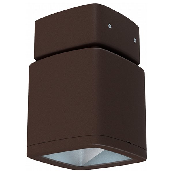 Lumiance InVerto Surface 16W/21W Cool White 40 Degrees IP65 in Matt Rust 1-10V Dimmable