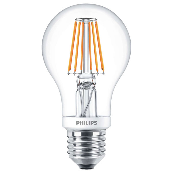 philips classic led gls 7 5w es very warm white clear dimtone. Black Bedroom Furniture Sets. Home Design Ideas
