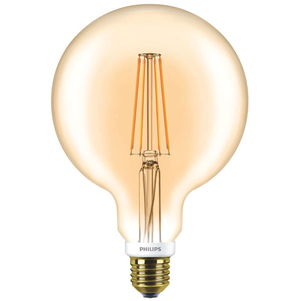 philips classic led globe d 7w g120 e27 820 gold dimmable. Black Bedroom Furniture Sets. Home Design Ideas