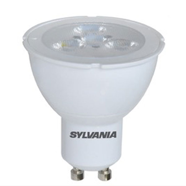 sylvania led gu10 6w cool white 36 degrees dimmable. Black Bedroom Furniture Sets. Home Design Ideas