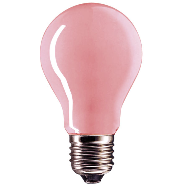 pink light bulbs  watt