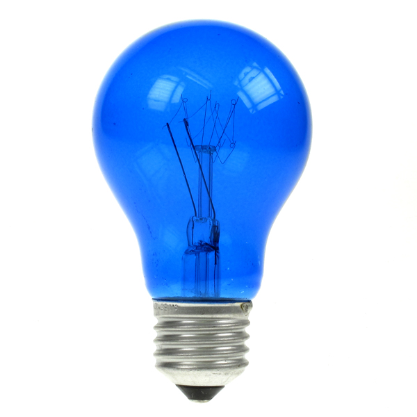25w Es Translucent Coloured Light Bulbs
